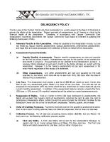 Delinquency Policy