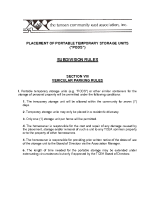 Policy on Placement of PODS and Temporary Storage