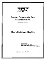 Subdivision Rules – Amended 06-17-19